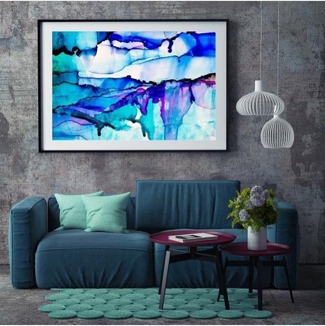More gorgeousness from Celeste Wrona (aka @scissorspaperbrush) - the same artist used by @kimandchris in their Master Bedroom. This piece is Exhale VII and it's available now at The Block Shop. Just search 'Exhale' for details. #9theblock #wallart #art http://ift.tt/2dlyjRD