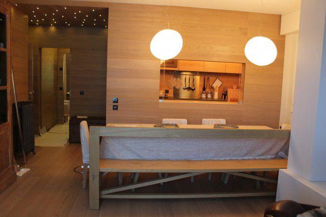 Appartamento a Foppolo - sala da pranzo con passaggio alla cucina