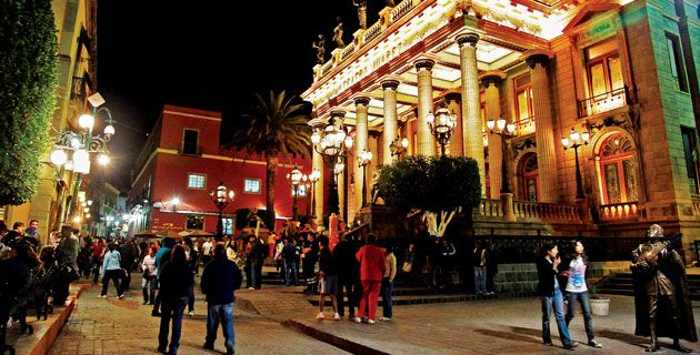 Colonial city of Guanajuato, Mexico.  The city of Mummies.