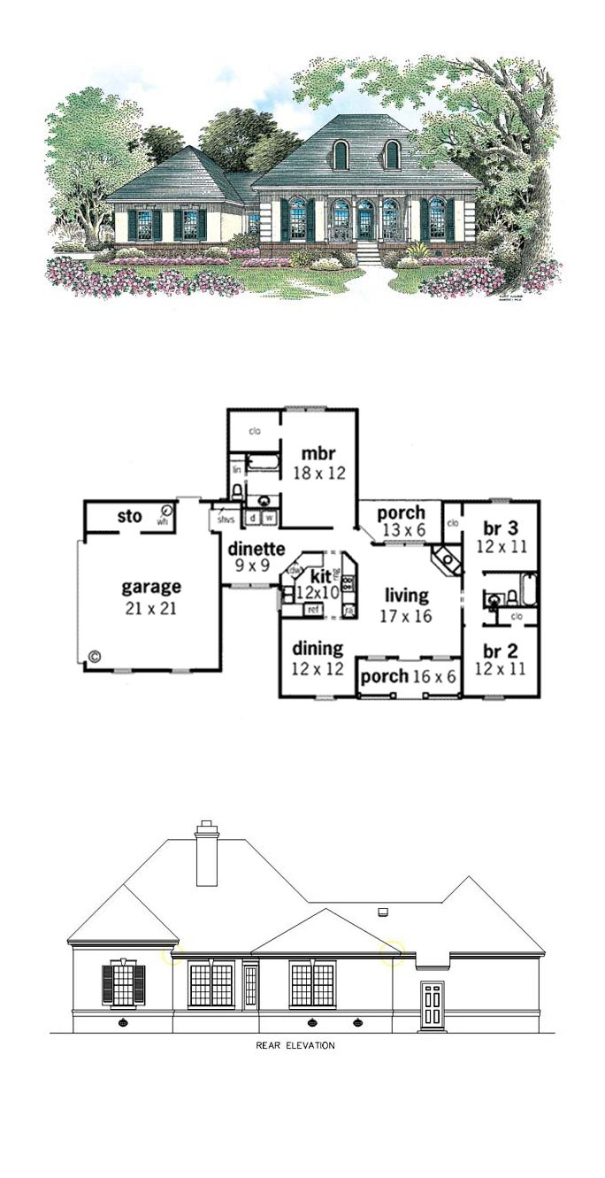 52 Best Colonial House Plans Images On Pinterest