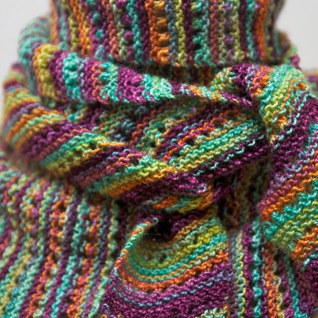 free lacey baktus pattern on ravelry.....noro sock yarn. Terhi Montonen. One of my favourite scarf patterns, you can almost knit it in your sleep!