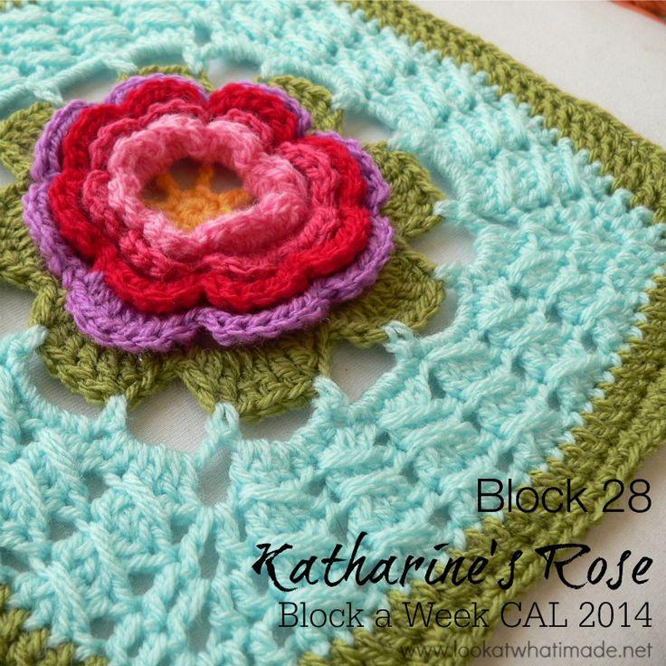 Block 28:  Katharines Rose by Melinda Miller. Not her idea, but Dedri promotes this wonderful challenge.