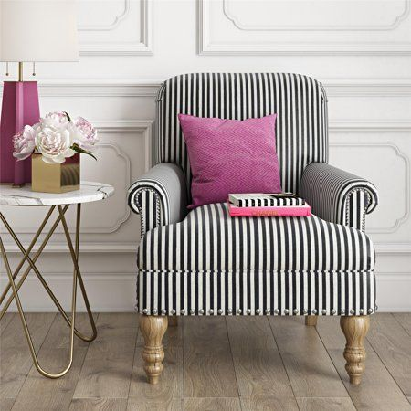 Beige Accent Chairs With Blue Stripes.Dorel Living Jaya Accent Chair Beige My Home In 2019 Accent