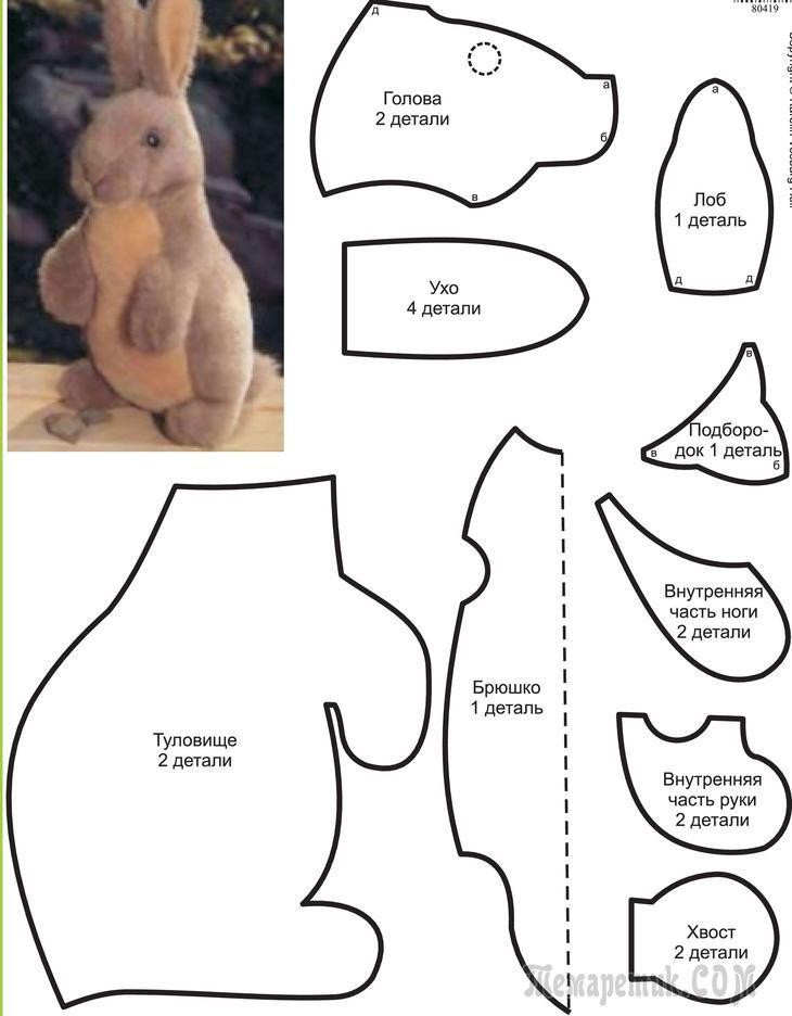 МК Зайцы-кролики из простой выкройки