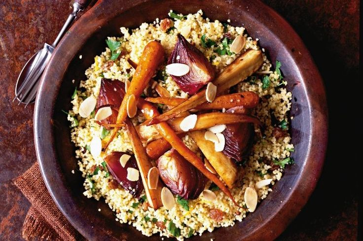 This is just the sort of meal you need in winter; one that turns the complex sweetness of slow-roasted vegetables into the hero, and doesn't demand meat to be satisfying.