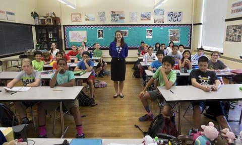 Seventh grade Latin class at Boston Latin school