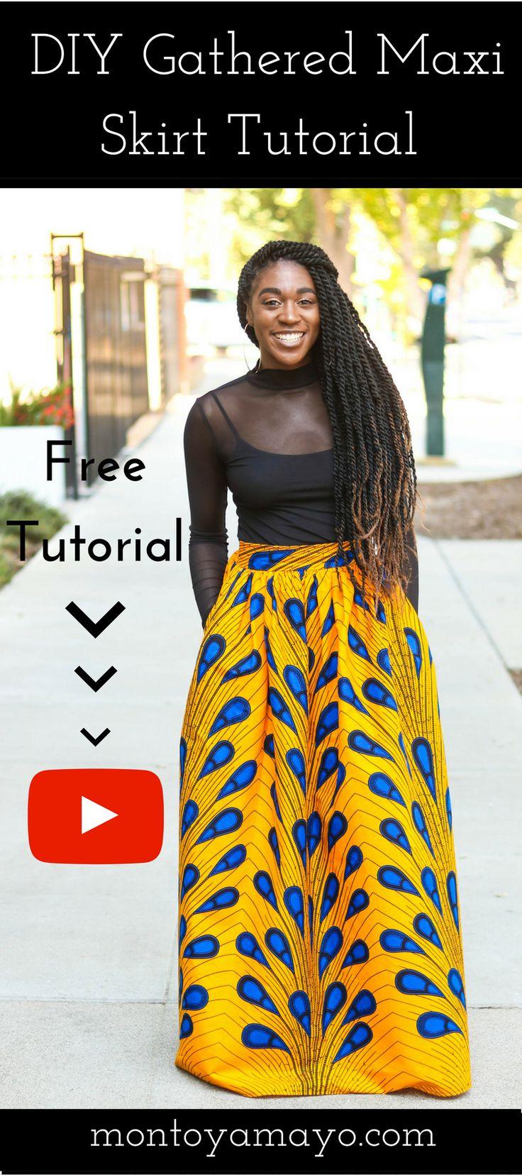 DIY | How To Sew Ankara African Print Gathered Maxi Skirt Tutorial (McCall's 7355) African Print Fashion, African Print Skirt, DIY Skirt, How to sew a skirt, Gathered Maxi Skirt, skirt, sewing for beginners, sewing tutorials, Modern African Fashion, Ankara Skirt, Ankara Fashion, DIY Maxi Skirt, Maxi Skirt, Learn to Sew, DIY Fashion, Sewing Clothing, African fashion styles, Kitenge, Nigerian Style, Ghanaian fashion, Gele, African Wedding, African Women Dresses, Ankara
