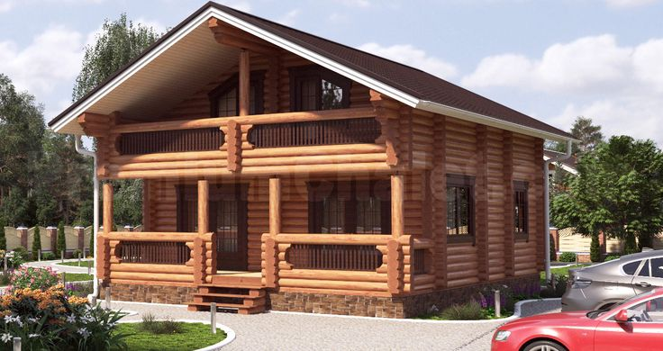 Проект деревянного дома — Комфорт — КФ-163