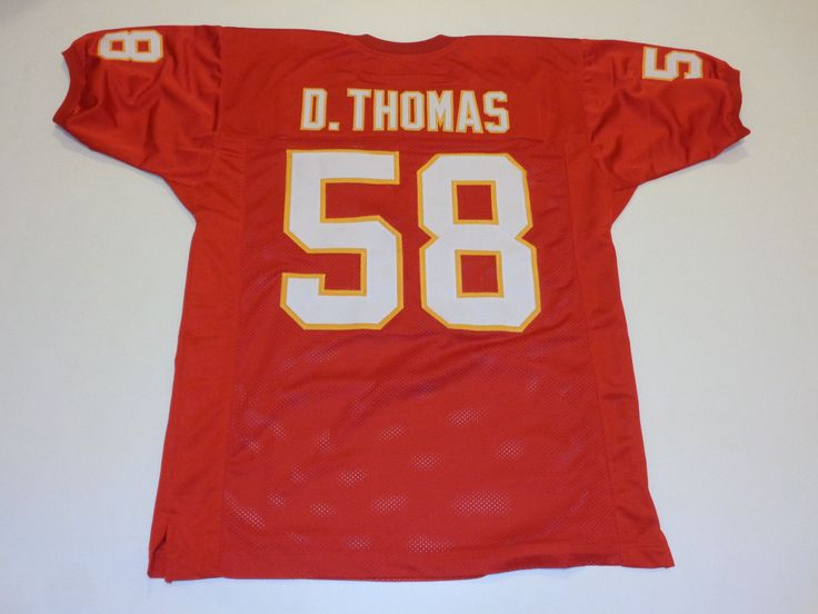 DERRICK THOMAS unsigned red pro style jersey adult mens XL