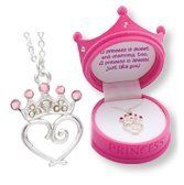 D.M. Pink Petite Princess Crown Necklace in Figural Gift Box: http://www.amazon.com/Petite-Princess-Crown-Necklace-Figural/dp/B001V73NRS/?tag=utilis-20