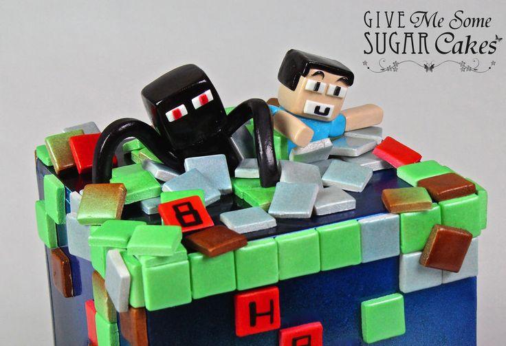 ENDERMAN Amp STEVE Minecraft Cakes Pinterest