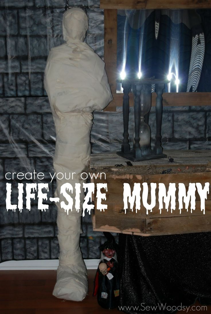 tutorial create your own life size mummy sew woodsy cool halloween