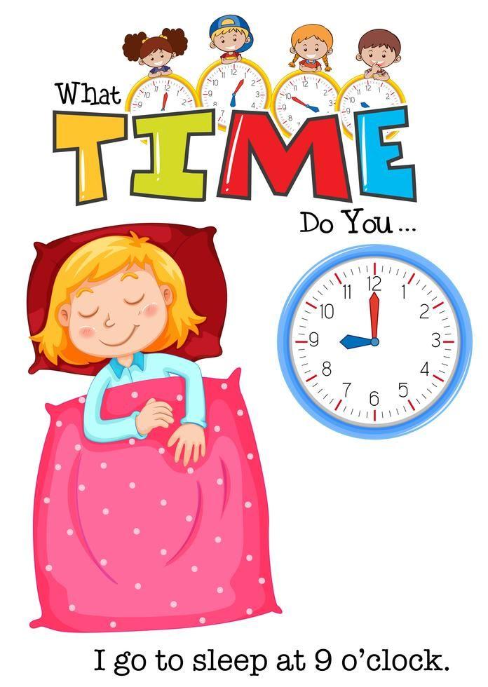 Pin By Hano Ali On Children Illustration In 2020 Clock Clipart Go To Sleep Children Illustration