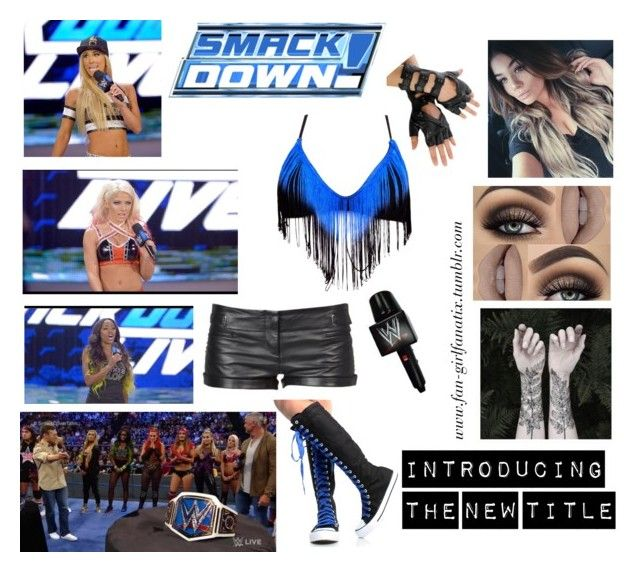 """WWE Diva ~ Introducing the new Smackdown Title"" by fan-girlfanatix ❤ liked on Polyvore featuring Nature Girl, COSTUME NATIONAL and The Bikini Lab"