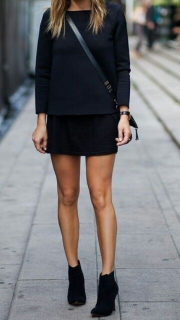 Love these black suede ankle boots for fall and winter! These booties look good with a black skirt and top - 2013 2014 ♥ Get this look at @SPARKTREND for $49, click the image to see! #heels #booties #ankle #boots #shoes #fashion