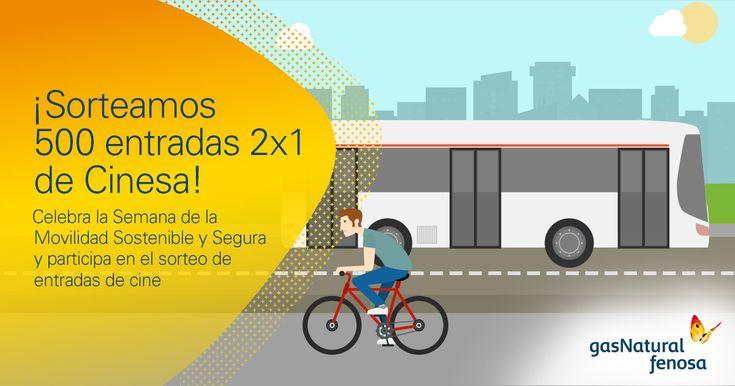 ¡Sorteamos 500 entradas 2x1 de Cinesa! Participa en el test sobre Movilidad Sostenible y Segura.