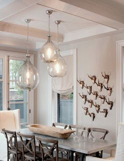 A.P. DESIGN HOUSE; IN LOVE; these glass pendants made from demijohns are what I want as lights to replace what we currently have in our kitchen!