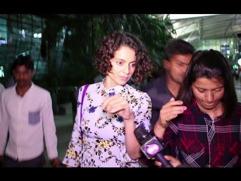 Oops ! Kangana Ranaut getting IRRITATED by the media at Mumbai airport.