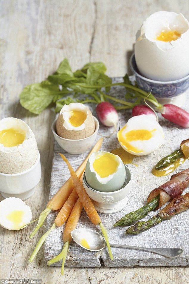 The next time you have a party, serve a selection of soft-boiled seasonal eggs to dip vegetables into