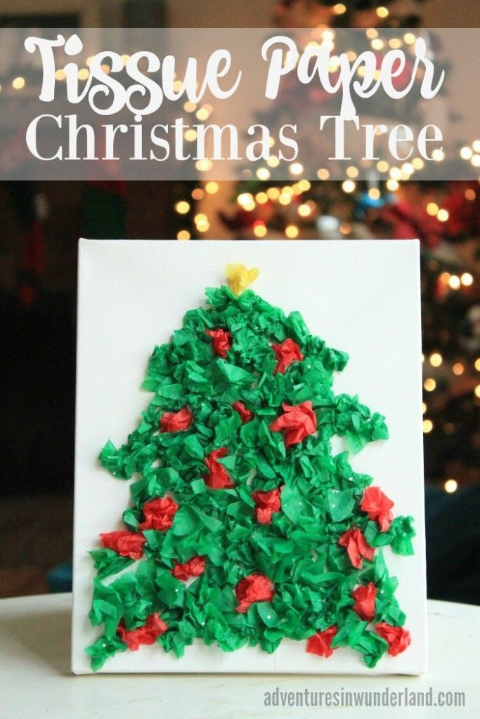Tissue Paper Christmas Tree Kids Holiday CraftsPreschool