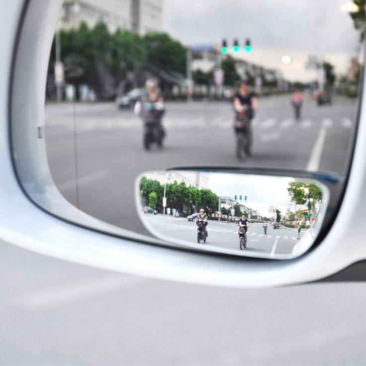 2 יח'\חבילה מתכוונן 360 תואר רכב מראה עגול זווית רחבה כתם העיוור קמור גשם מראה אחורי חניה צל