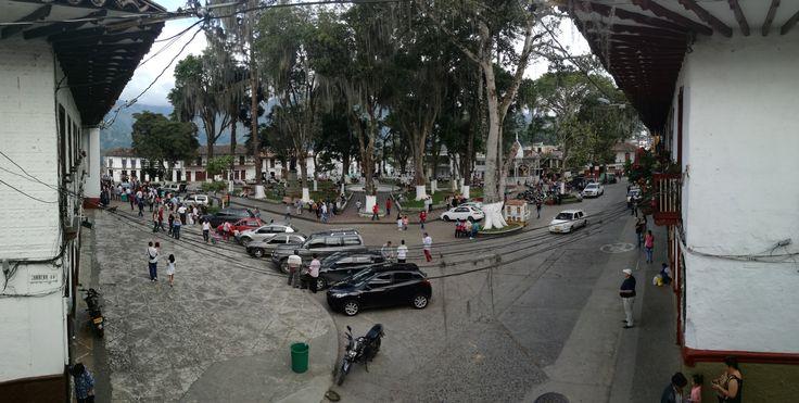 Parque principal de Salamina Caldas.
