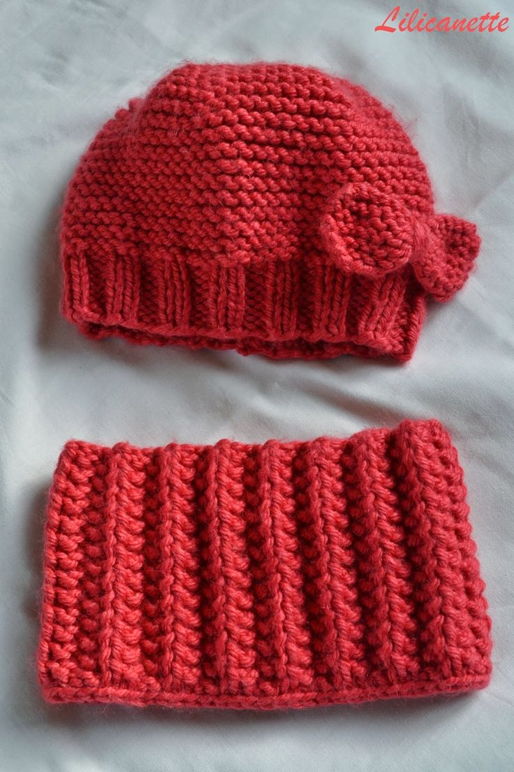 bonnet snood enfant