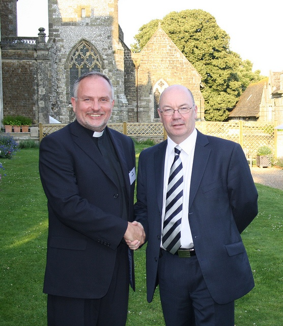 Faith and international policy - this is Rev Dr Gary Wilton with Alistair Burt, 2011, at Wilton Park