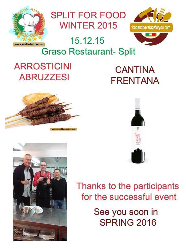 "I Sapori abruzzesi a ""Split for Food"": workshop enogastronomico a Spalato(Croazia)"
