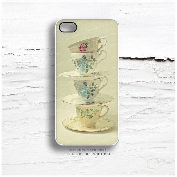 iPhone 6 Case, iPhone 5C Case Teacups, iPhone 5s Case Floral, iPhone 4s Case, Tea iPhone Case, Cups iPhone Cover 4S Case, iPhone Cover V13