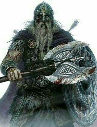 A viking worrior going to war