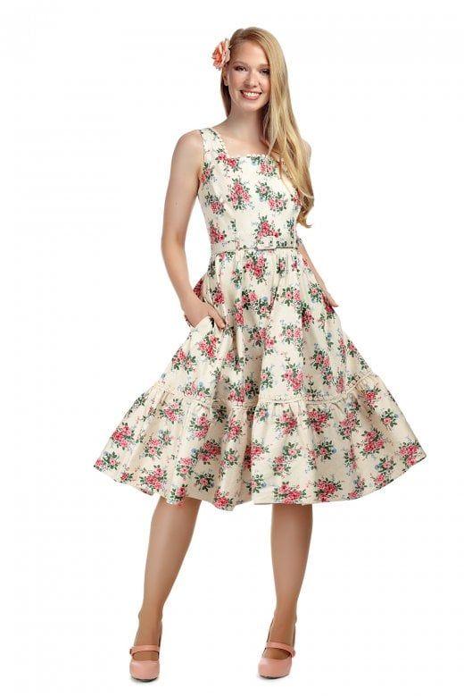 5f4412d2655c Collectif X Modcloth Frida 40s Floral Swing Dress. Collectif X Modcloth  Frida 40s Floral Swing Dress Vintage Style ...