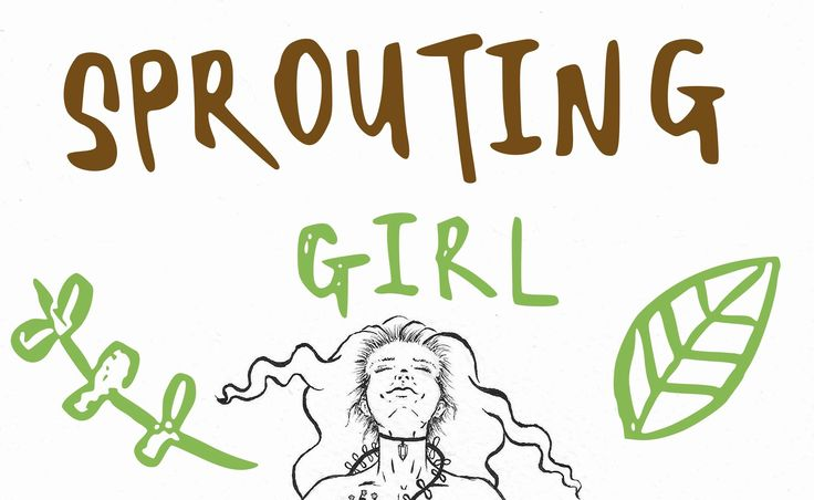 SPROUTING GIRL - INK ILLUSTRATION speed paint.