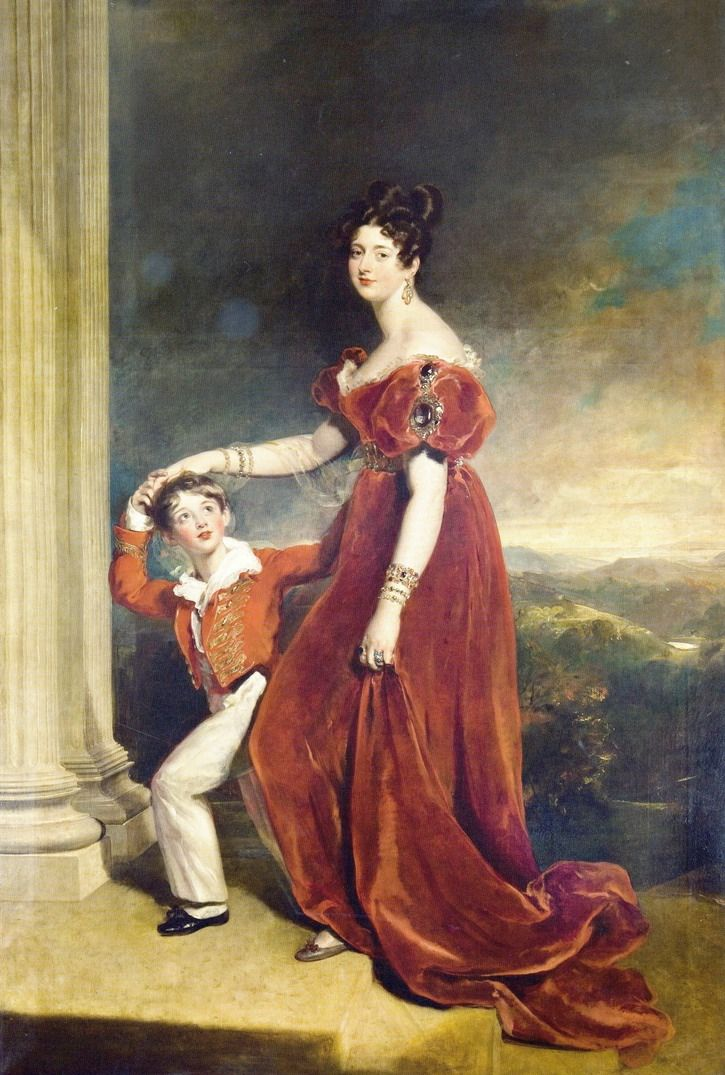 ca.1828 Frances Marchioness of Londonderry with her Son Lord Seaham by Sir Thomas Lawrence