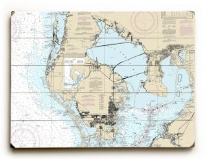 St. Petersburg, FL Nautical Chart Sign