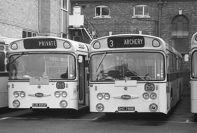 Eastbourne Borough Council, Daimler Roadliners EJK 890F & DHC 786E. | Flickr - Photo Sharing!