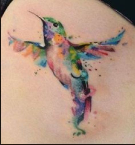 hummingbird watercolor tattoo - Google Search