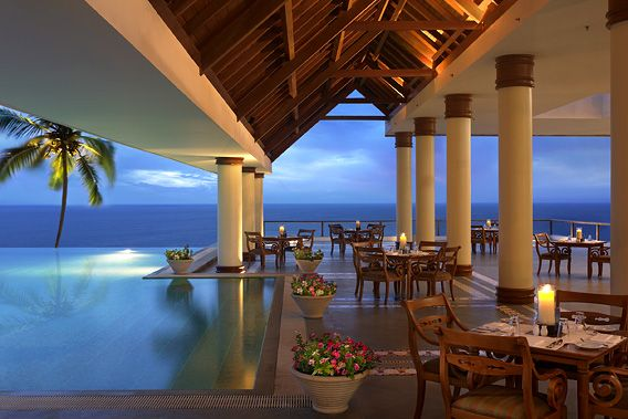 The Leela Hotel in Trivandrum, Kerala. They have an amazing view and a nice Skybar/breakfast buffet