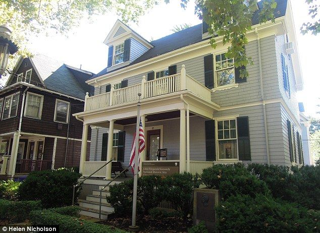 Modest beginnings: John F Kennedy was born at 83 Beals Street in Brookline, a suburb of Boston
