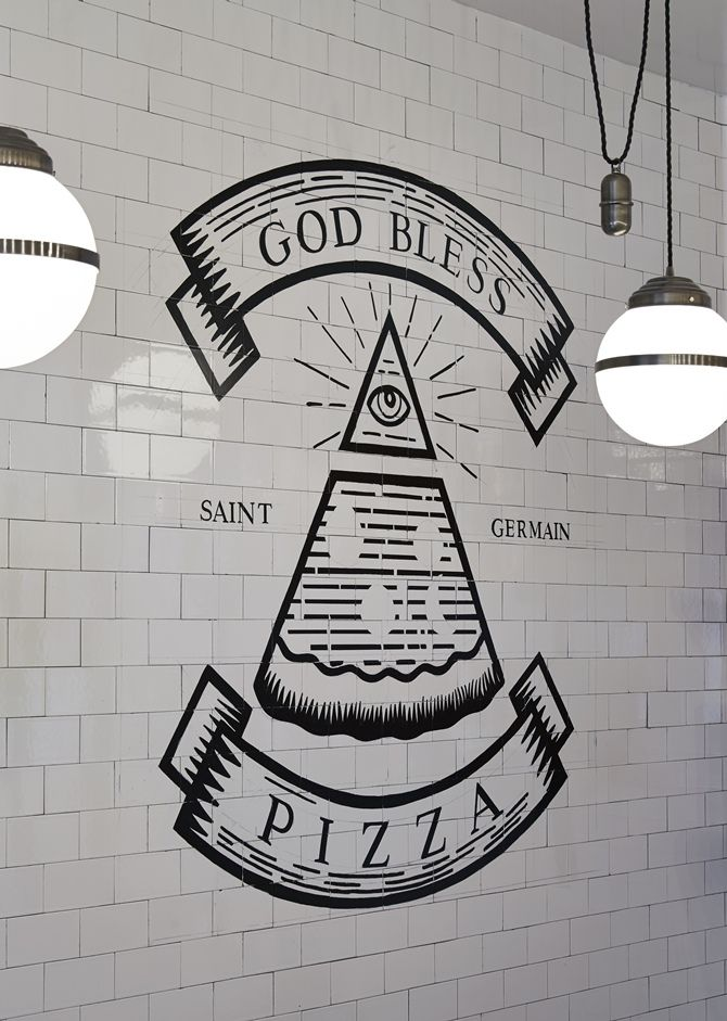 """In pizza we trust"".."