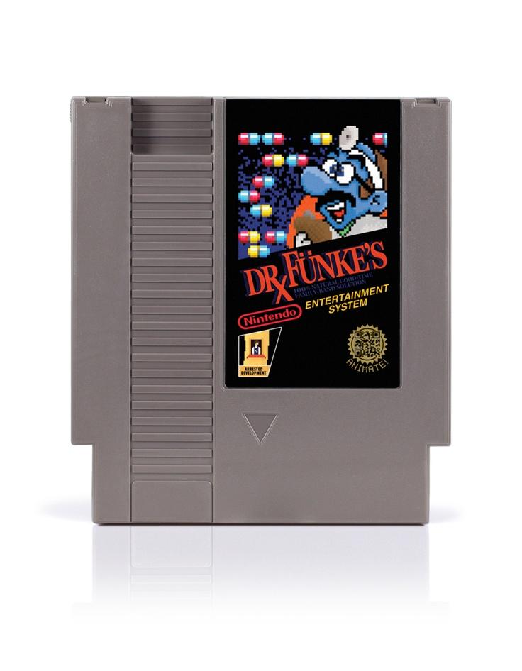 Dr. Funke's 100% Natural Good Time Family Band Solution - Arrested Development 8-bit NES art