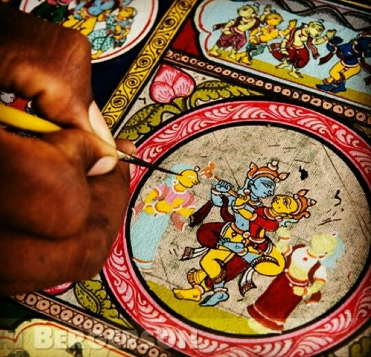 Pattachitra (cloth picture) from orissa . #MyStateWithJaypore