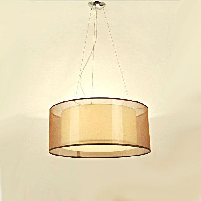 Phx modern gauze and pvc shade pendant lighting hk phoenix lighting