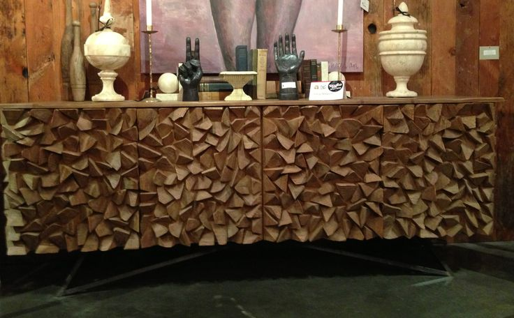 Noir Walnut Sideboard Inspired By The Shapes Of New York