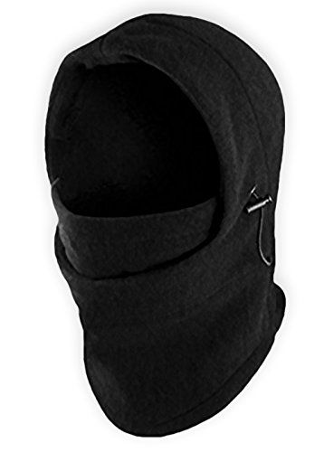 Balaclava Fleece Hood / Windproof Ski Mask - Heavyweight Cold Weather Winter Motorcycle Ski & Snowboard Gear - Ultimate Protection from the Elements