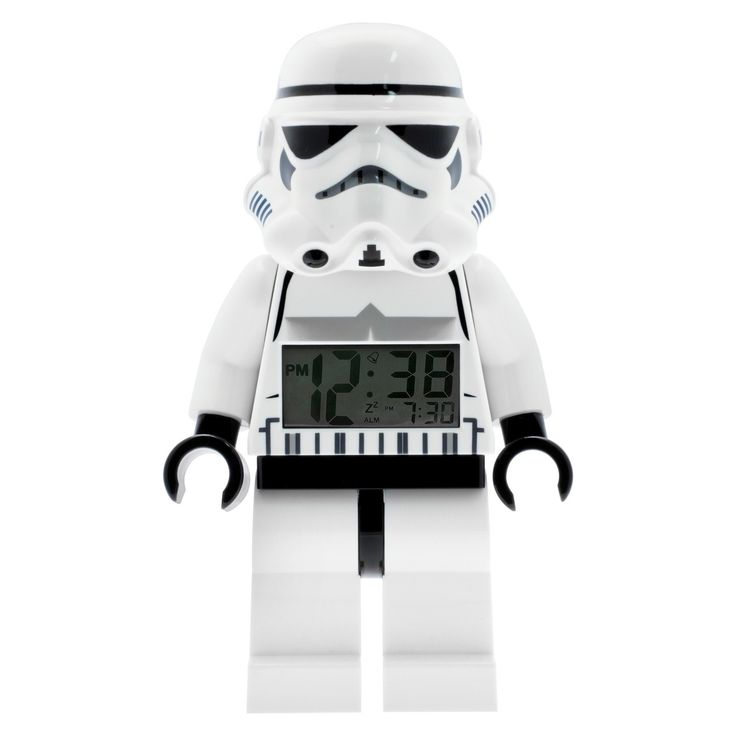 Lego Star Wars Storm Trooper Kids Moveable Minifigure Alarm Clock - White