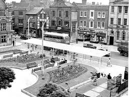 Stafford town centre in the 50s
