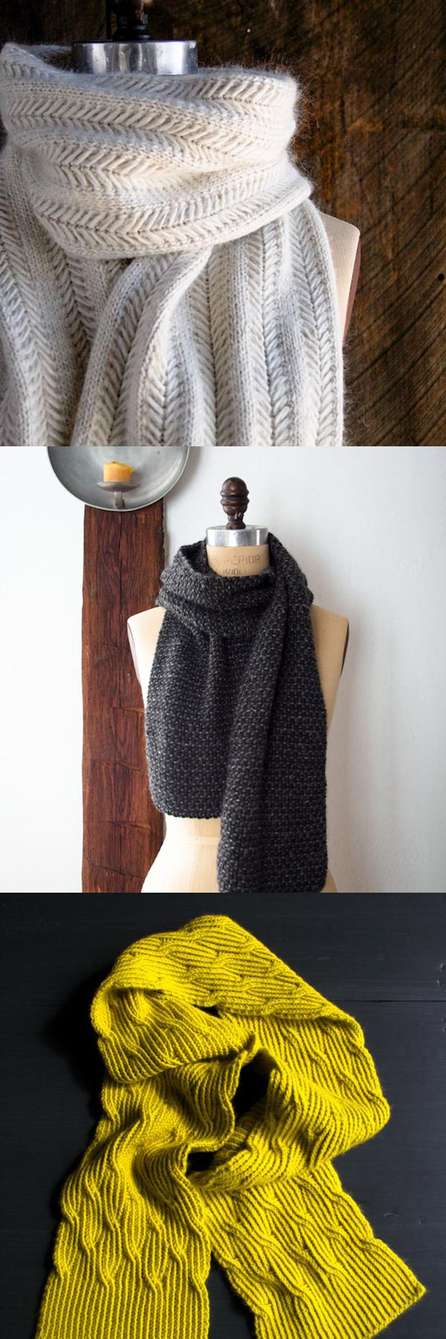 favourite purl bee scarves, via fringe association