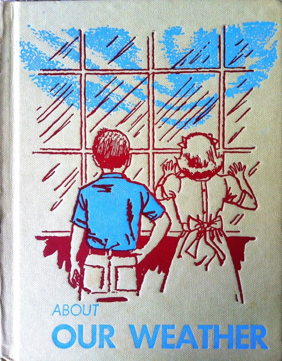 1965 OUR WEATHER BOOK Look and Learn by sandshoebooks on Etsy, $6.00