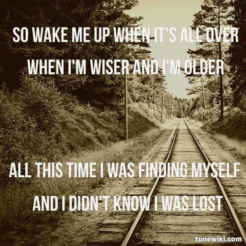 "-- #LyricArt for ""Wake Me Up"" by Avicii"